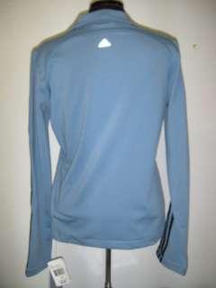 NWT ADIDAS Womens Rebound Track Jacket Full Zip Sz MEDIUM BLUE Ret $