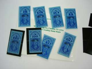 OLD Mint NH Cigarette Tax Revenue Stamps & others