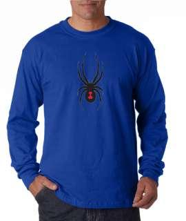 Black Widow Spider Long Sleeve Tee Shirt