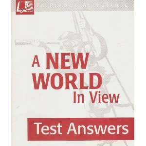 A New World In View Test Answers: Books