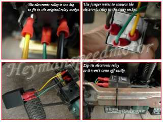 2V Turn Signal 3 Pins Electronic Flasher Relay Black 934#