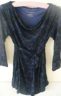 Liz Lange Maternity Target Black Blue Print Knit Top