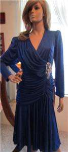 Vintage~80s Glam and Sequin *BOMBSHELL* Dress with Ruch waist