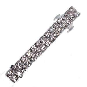 Sakina Silver Crystal Hair Barrette Jewelry