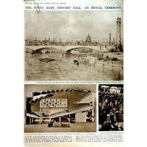 1949 SOUTH BANK CONCERT HALL HUNGERFORD BRIDGE WATERLOO