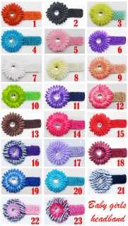 Baby girl hair bow gerber daisy flower headband clip #2