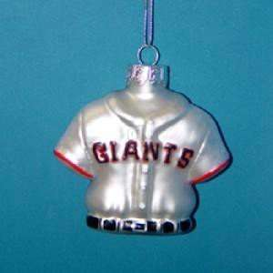 FRANCISCO GIANTS JERSEY ORNAMENT   Christmas Ornament