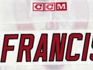 RON FRANCIS Carolina Hurricanes Hockey Jersey size XL