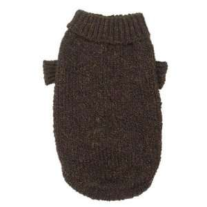 Basic Knit Sweaters XX SMALL   BROWN   Marled Yarn Basic Knit Sweaters
