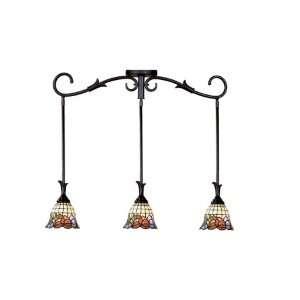 Dale Tiffany TH101085 Burbridge 3 Light Pendant Light, Verona Bronze