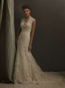 High quality Lace bridal gown wedding dress sleeveless white/ivory