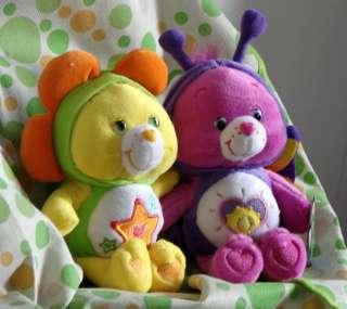 Lot 2pcs 22cm Shine Bright +Super Star Care Bears NEW