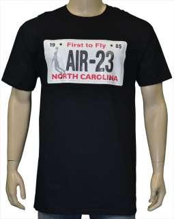 Air Jordan Air 23 Nike North Carolina License Plate Shirt Black