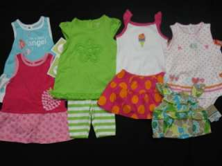 piece LOT of baby girl spring/summer clothes 6 months Carters and