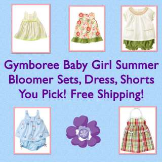 Gymboree Baby Girl Summer Bloomer Sets,Dress,Shorts 0 3 6 12 18 24 NWT