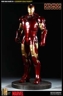 Sideshow Collectibles Iron Man Mark III 12 Legendary Scale HUGE Ltd