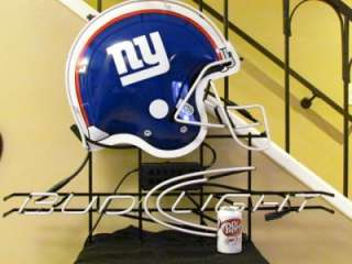Bud Light New York Giants NFL Football Neon Beer Bar Sign NEW RARE USA