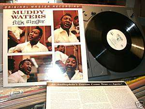 MUDDY WATERS BUDDY GUY FOLK SINGER MFSL MINT LP RECORD