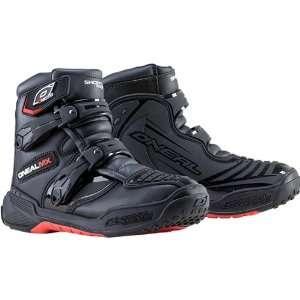 Neal Racing Shorty II Mens MotoX Motorcycle Boots   Black / Size 11