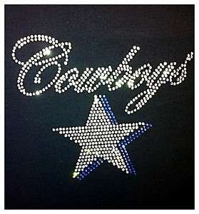 New DALLAS COWBOYS BLING RHINESTONES STUDS SHIRTS ***