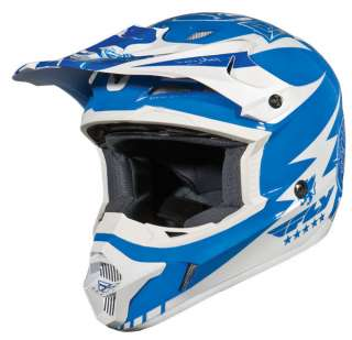 Fly Kinetic Full Face BMX / MX Helmet sz Adult XS Blue/White