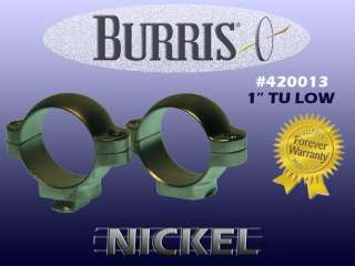 Burris Rifle Scope Rings 420013 1 Low TU Silver Nickel