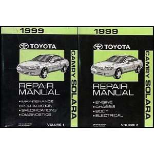1999 Toyota Camry Solara Repair Shop Manual Original Set