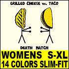 GRILLED CHEESE vs TACO T Shirt WOMENS funny vtg 80s lol