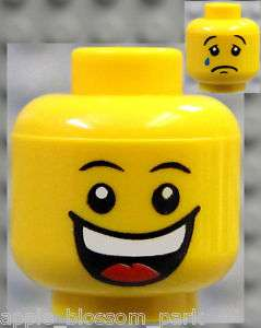 NEW Lego Jester MINIFIG HEAD Happy Smile Crying w/ Tear