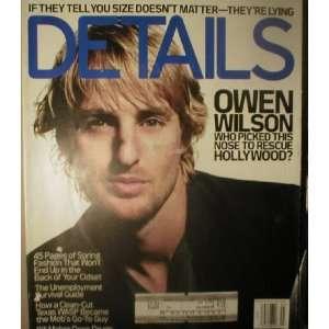 Details Magazine March 2003 Owen Wilson: Details: Books