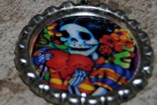 Dia de los muertos DAY OF THE DEAD LAPIS GEMSTONE MEXICAN NECKLACE
