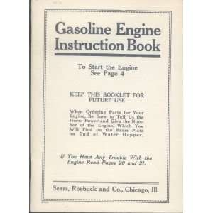 Gasoline Engine Instruction Book Roebuck and Co.  Books