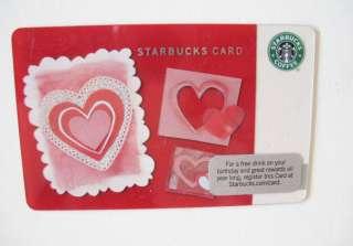 Starbucks Valentines Paper Hearts Starbuckscard No $