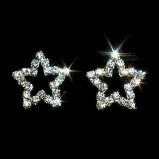 Sparkling Crystal Rhinestone Star Shaped Post Earrings