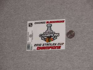 Chicago Blackhawks Champions Window Cling Decal FREE