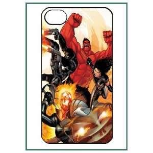 Fantastic Four Cartoon Movie Hero iPhone 4 iPhone4 Black