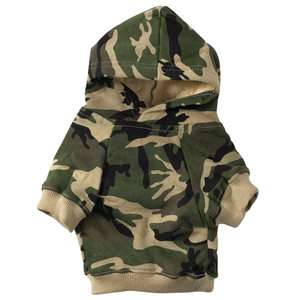 Casual Canine Dog Hoody Hoodie   Green Camouflage   Jacket Coat