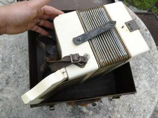 German Hohner Accordion Squeezebox Concertina Old Antique