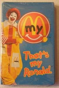 MCDONALDS * THATS MY RONALD.* HAPPY MEAL* TAPE