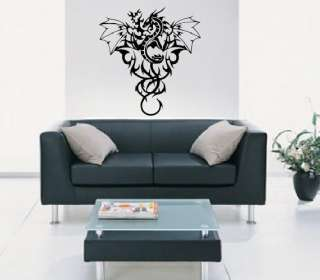 DRAGON & FIRE CAR / WALL ART STICKER DECAL IN 3 SIZES