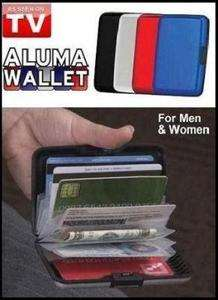 New ALUMA WALLET For Man Woman Credit Card Holder four color
