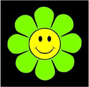 Retro Happy Face Flower Vinyl Car Decal Sticker