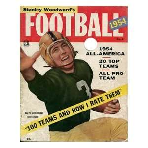 Ralph Guglielmi 1954 Football Magazine