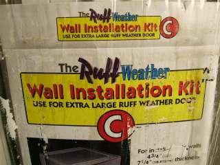 Ideal Ruff Weather Pet Dog Cat Door X Large w/Wall Installation Kit C
