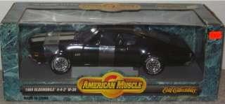 New ERTL American Muscle Black 1969 Oldsmobile 4 4 2 W 30 118 Scale