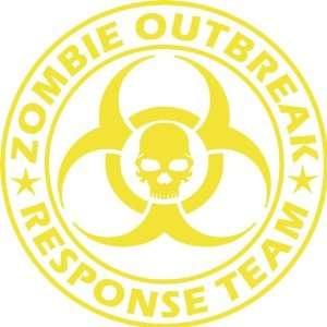 Large Zombie Outbreak Response Team NEW DESIGN Die Cut Vinyl Decal