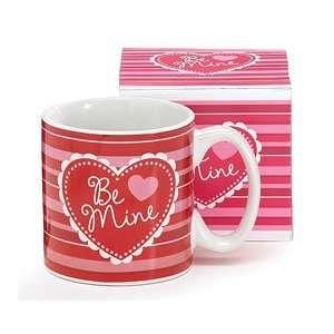 Red & Pink Be Mine My Valentine Mug Ceramic Hearts Love