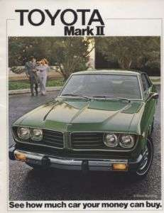 1975 Toyota Mark II Corona Sales Brochure Book Rare