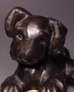 SIGNED FOX TERRIER DOG FIGURINE c. 1940
