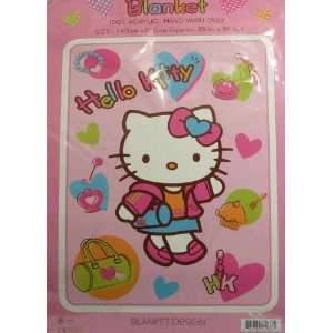 Sanrio Hello Kitty 55 in. x 39in. Plush Blanket